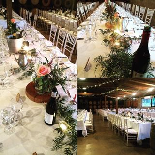 #weddings #huntervalleywedding #huntervalley #huntervalleyweddings #pepperscreekweddings #rusticcharm #love @jademcintoshflowers @winecountryweddingvenues - love the banquet table set up with Tiffany Chairs, flowers, candles and raw timber #gorgeous ( #:c