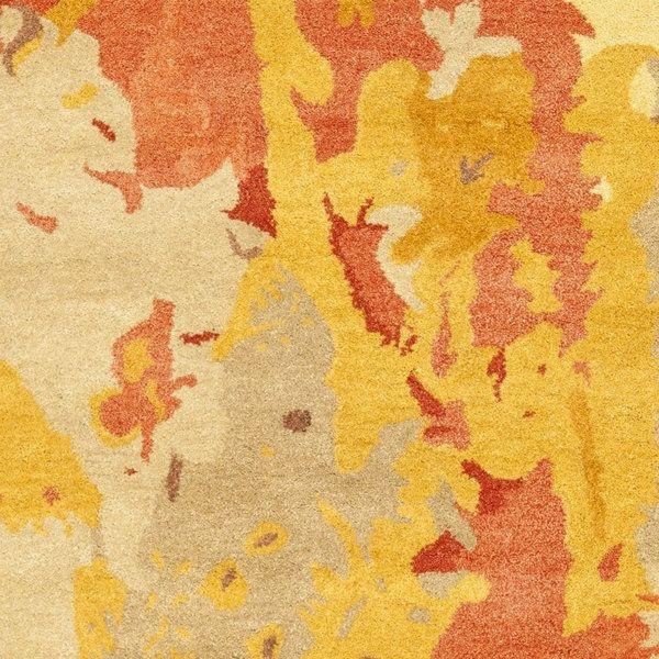 safavieh handmade soho splashes modern abstract beige wool rug 8u0027 3 x