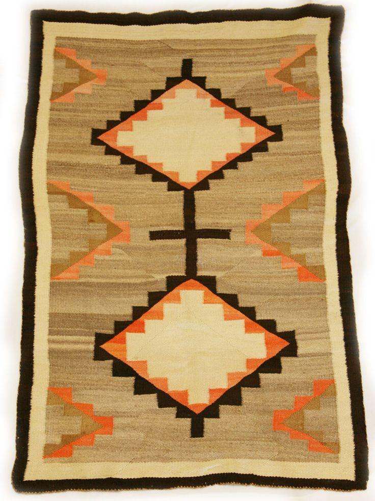 Vintage Navajo Ganado Rug Circa 1900 In 2019 Navajo Rugs