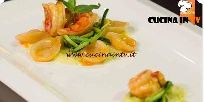 Gnocchetti al limone con zucchine menta e gamberi ricetta Alessandro da MasterChef 4 | Cucina in tv