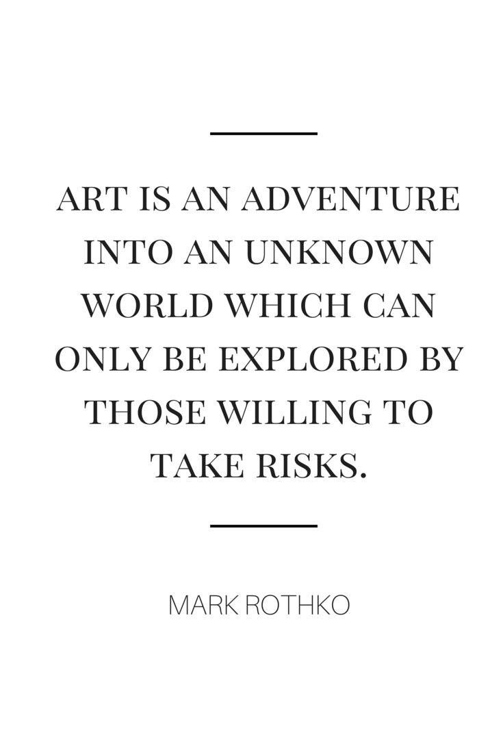 art is an adventure • mark rothko