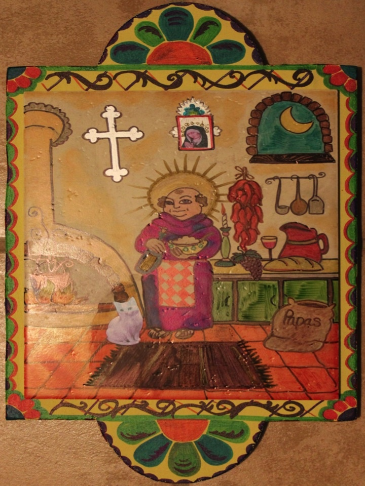 San Pasqual - Patron Saint of the Kitchen by Susanne Baca