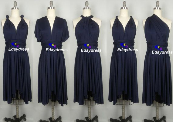Midnight Blue Navy Blue Bridesmaid Dress by Dresslongbridal, $33.90!!! LOVE THESE & they are cheap! HELL YEA!