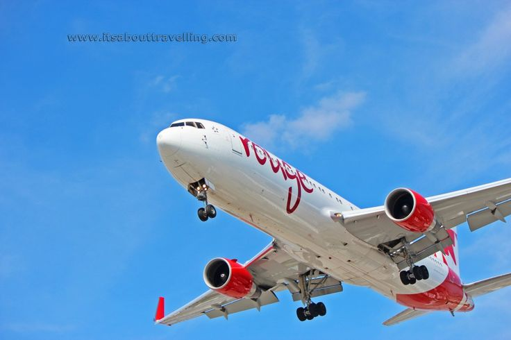 Air Canada Rouge Boeing 767 about to land at Toronto Pearson International Airport (YYZ).