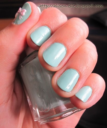 Pastel Orange Nail Polish Essie: Really Pretty Mint Green Nail Polish!