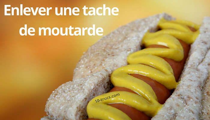 Tache de moutarde, trucs et astuces pour enlever les taches de moutarde.