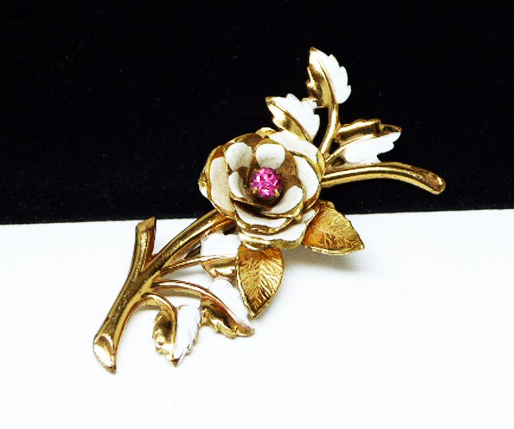 Boucher Black Flower Rose Pin Brooch Signed Numbered: 25+ Best Ideas About Rose Leaves On Pinterest