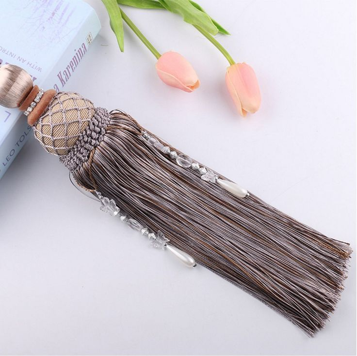 Interbusiness Curtain Holdback Braided Buckle Fastener Accessories Home Decorative Window Drapery Tassels Tieback, Grey *** Find out more about the great product at the image link. (This is an affiliate link and I receive a commission for the sales)