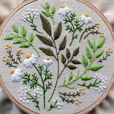 Cross stitch daisies