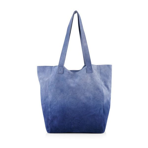 Superdry Anneka Ombre Tote Bag ($65) ❤ liked on Polyvore featuring bags, handbags, tote bags, navy, navy handbags, navy blue tote bag, logo tote bags, blue tote and blue purse