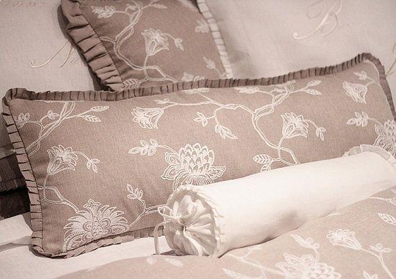 Designer Mocha Lumbar cushion  Clarke & Clarke by emeisonCOM