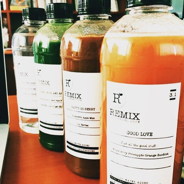 JUICE • get your juice fix from Remix @remixjuicebali cold pressed juices, almond milk and coconut water = healthy and yum! • remixjuicebali #bali #juice #coldpressed #coconutwater #healthy #morning #pagi #fresh #islandlyf #travel #instatravel • TAG YS IN YOUR BALI PICS #thebaliwhisperer
