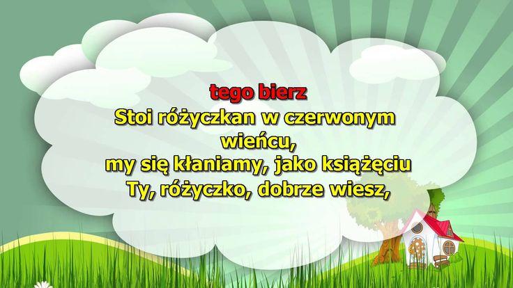 Karaoke dla dzieci - Stoi różyczka - z wokalem