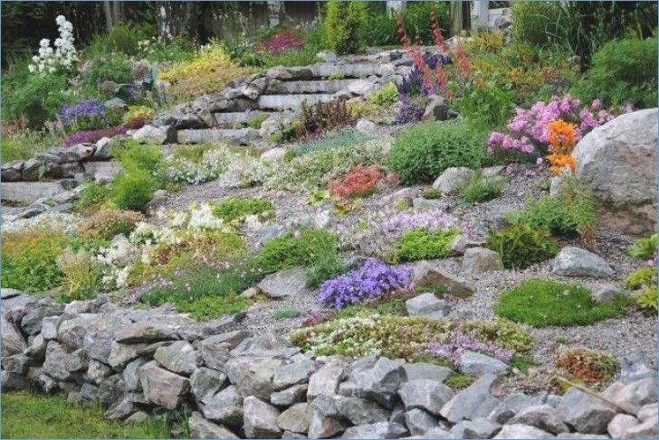 Rock Garden Create On A Slope With Images Sloped Garden