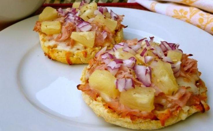 English Muffin Hawaiian Pizza