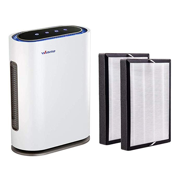 Webetop Air Purifier With 3 In 1 True Hepa Filters Real Time Air Quality Indicator Remote Control Home Filter For Air Purifier Dust Allergy Filter Air Purifier