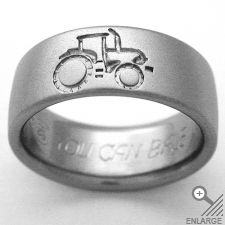 How cool is that for a guys wedding band? Oh. My. This is awesome! I hope marry a farmer...