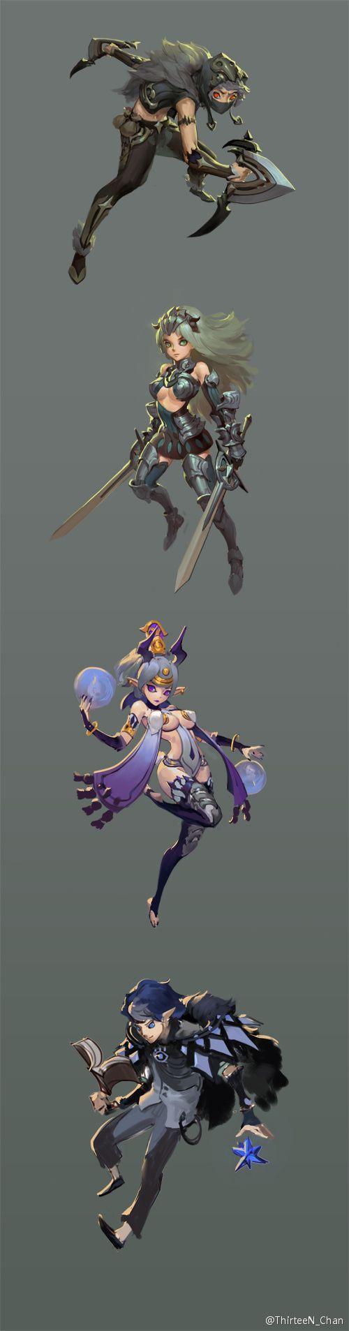 칼 마법 이도류(쌍칼)