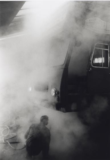 Man Under Autobus, Liverpool, England, 1964
