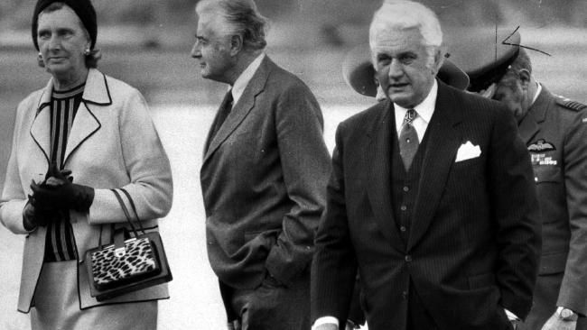 Gough & Maragaret Whitlam with Governor-General Sir John Kerr. In fear of being sacked by the Prime Minster, Kerr wrote to Buckingham Palace expressing his fear of being sacked & was advised by the Palace that if Whitlam wanted to remove him, the Queen would do so. John Kerr's dismissal of Whitlam's government on Nov. 11 1975 was a 'coup' conceived in secret & executed by ambush which created Australia's greatest ever political crisis.