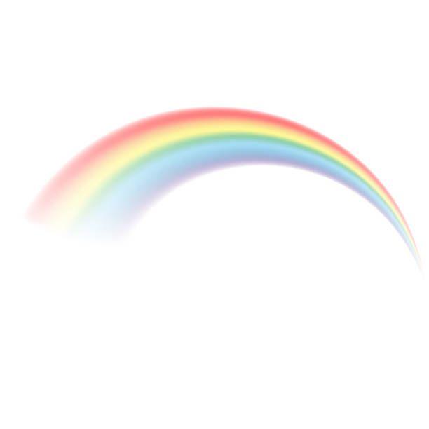 Transparent Rainbow Vector Illustration Realistic Raibow On
