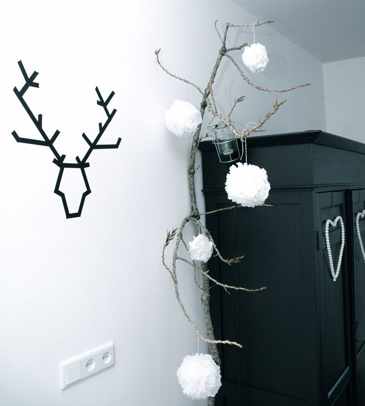 kerstdecoratie zwart wit bij Aggy