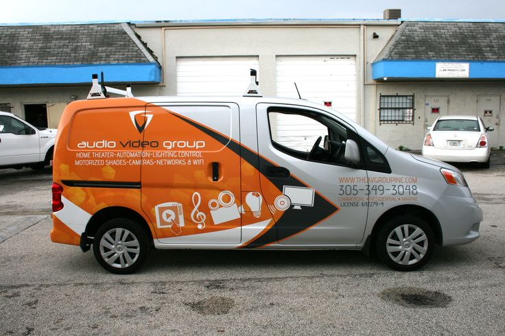 Creative Vinyl Wrap on Brand New Nisan NV 200 Van for Coconut Grove Company.