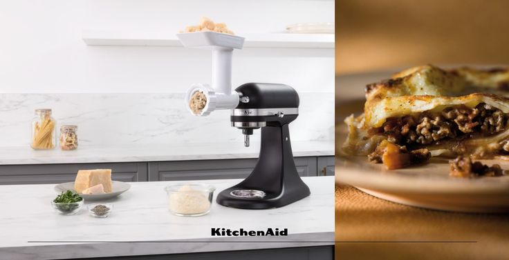 Lasagne Alla Bolognese with grated Parmesan made with our Stand Mixer Food Grinder Attachment takes the bite out of winter #KitchenAidAfrica