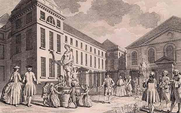 When babies were left at the Foundling Hospital in London in the 18th century, the only things identifying them were tiny scraps of fabric.