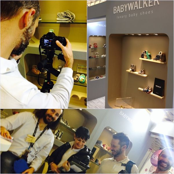 AW2015/16 photo shooting BABYWALKER at Pitti Bimbo Florence