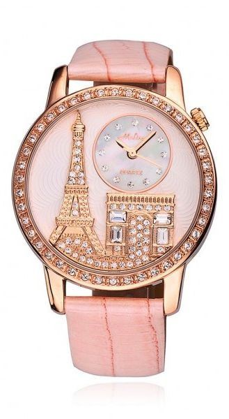 Pink Paris-themed Watch