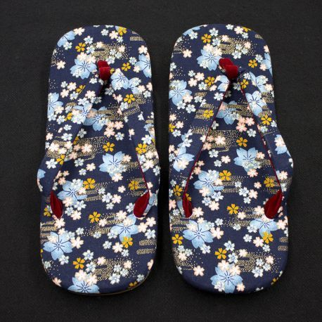 Japanese Setta Sandals (Kozakura Pattern)