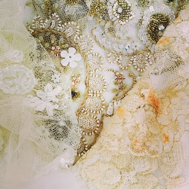 We love precious lace #solstiss #chantilly #parlorstudio #parlorbride #demicouture #lace #handmade #embroidery #silk #ido #design #parlordress #weddingdress #weddinglove