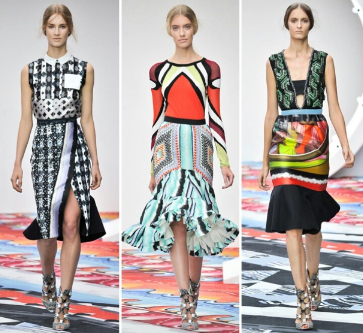 Peter Pilotto-One of our favorite designers. Amazing geometric digital prints.