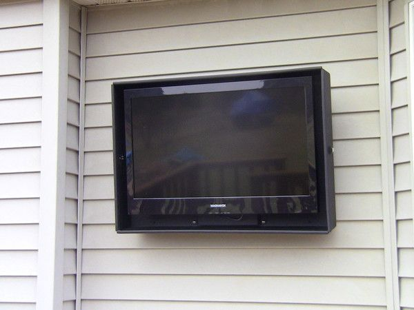 {outdoor tv enclosures} by Rain Case, LLC. Aluminum construction, patented design, compatible with LED, LCD and plasma TVs.