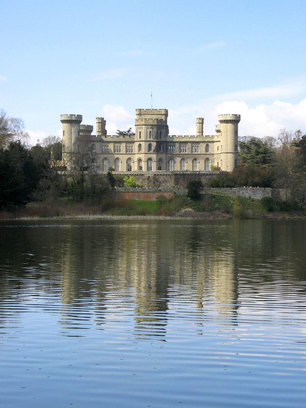 Eastnor Castle ,Herefordshire, England,  built in 1812 by Robert Smirke and the Gothic Drawing Room was designed by AWN Pugin