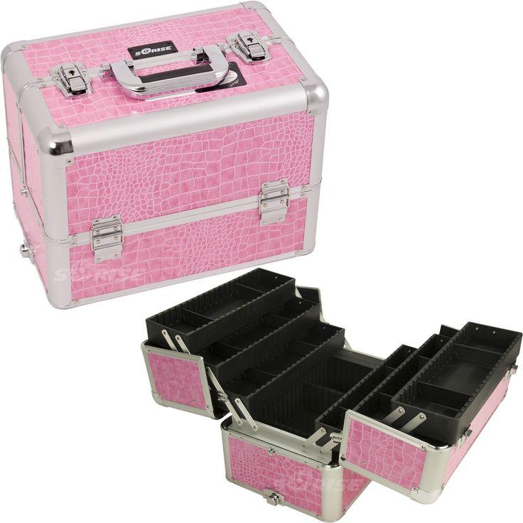 Pink Croc Pro Makeup Case - E3304 - salonhive.com