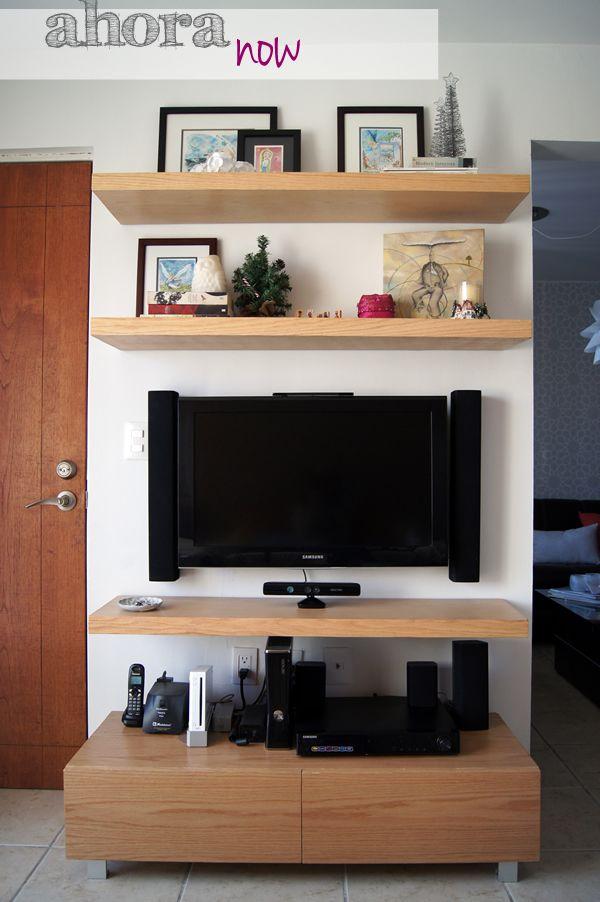 25 best ideas about shelf above tv on pinterest 4 tv - Ideas mueble tv ...