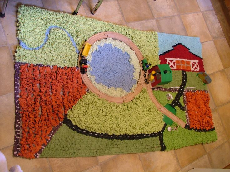 Area Rug Sizes Holly us Farm Yard Textured play rug with wooden train set and accessories