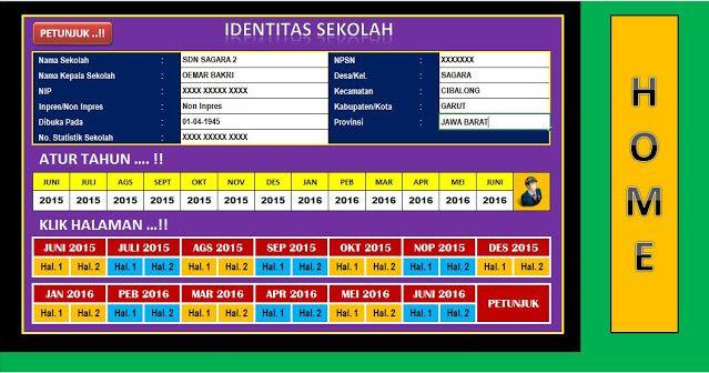 [Revisi] APLIKASI LAPORAN  BULANAN SEKOLAH UPDATE TAHUN 2016 - 2021