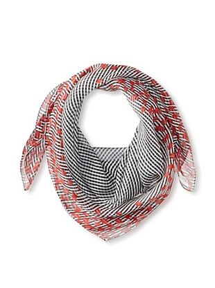 61% OFF Terracotta New York Women's The Peyton Striped Poppy Scarf, Navy/White