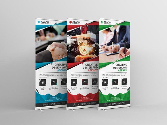 Roll-Up Banner by DesignGhor on @creativemarket