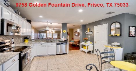 Newly designed Master Bathroom custom designed Frameless Shower.  Pleasing, LARGE Kitchen Granite Countertops, Stainless Appliances, Large Backyard room for Pool.  Spacious Floorplan. Recent Roof, Covered Patio. Largest Kitchen Plan. Call 214-636-7138