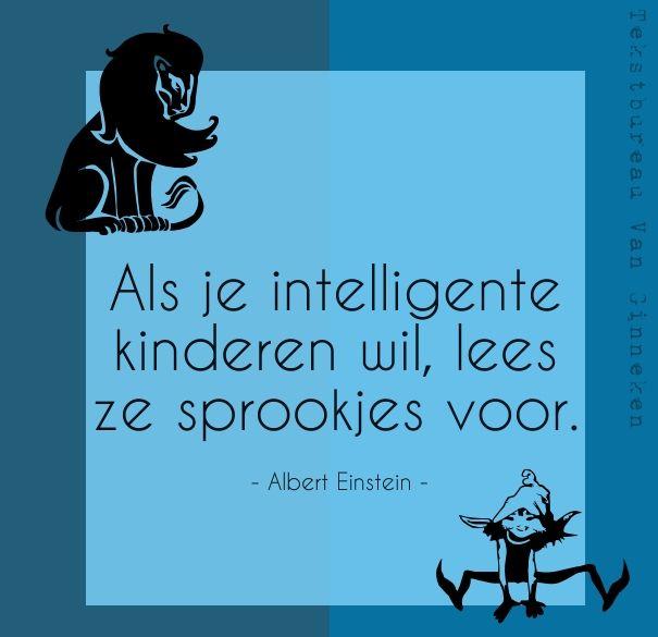 Als je intelligente kinderen wil, lees ze sprookjes voor.