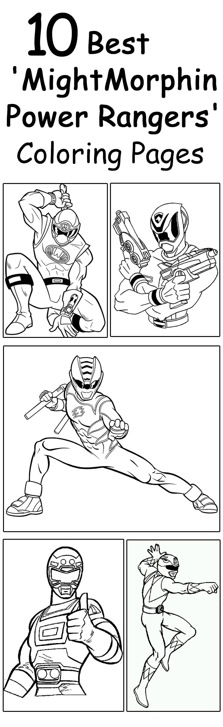 Free online coloring pages of power rangers - Top 25 Free Printable Mighty Morphin Power Rangers Coloring Pages Online