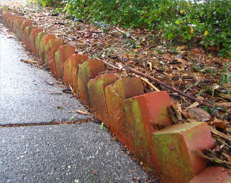 How to Create Landscape Edging Use Angled Bricks