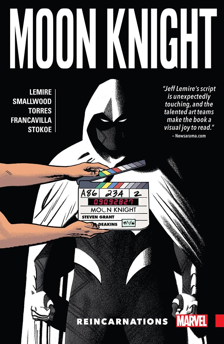 Moon Knight Vol. 2: Reincarnations  Meet the many men inside Moon Knight's head as the focus shifts to his various incarnations! Marc Spector broke his body to escape the prison Khonshu built for his mind...but what if he's still trapped? Steven Grant awoke in New York City, ready to produce Marvel's next box-office smash - is he losing his mind, or will Moon Knight: The Movie be a blockbuster? And Jake Lockley is under arrest for murder! With the world calling on him to protect those who…