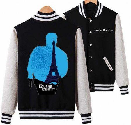The Bourne Identity 5 baseball jacket for men xxxl Jason Bourne sweatshirt