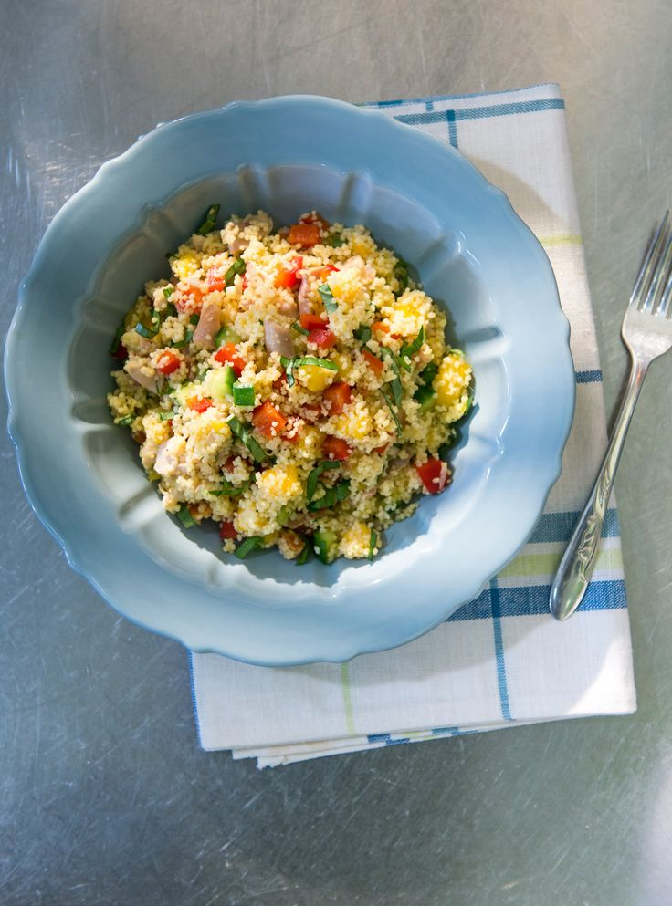 Recette de Ricardo de salade de couscous, de poulet et de mangue