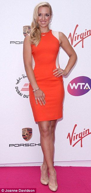 6/20/14 #wtaparty The Championships at Wimbeldon:  Vibrant: 2013 FINALIST Sabine Lisicki opts for a bright orange...